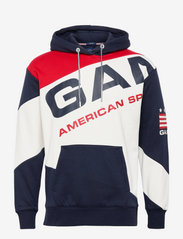 GANT - D1. GANT RETRO SHIELD BLOCK HOOD - hoodies - evening blue - 0