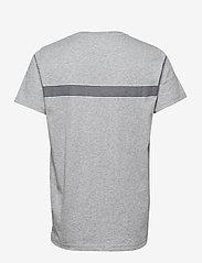 GANT - D1. GANT STRIPE SS T-SHIRT - short-sleeved t-shirts - grey melange - 1