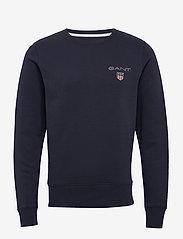 GANT - D1. MEDIUM SHIELD C-NECK SWEAT - basic sweatshirts - evening blue - 0