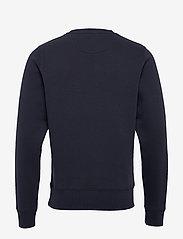 GANT - D1. MEDIUM SHIELD C-NECK SWEAT - basic sweatshirts - evening blue - 1