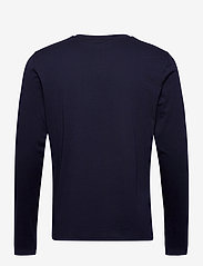 GANT - GANT LOCK UP LS T-SHIRT - long-sleeved t-shirts - evening blue - 1