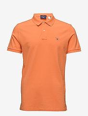 Gant - ORIGINAL PIQUE SS RUGGER - short-sleeved polos - carrot orange - 0