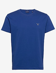 GANT - ORIGINAL SS T-SHIRT - short-sleeved t-shirts - crisp blue - 0