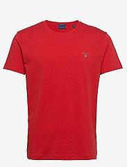 GANT - ORIGINAL SS T-SHIRT - short-sleeved t-shirts - fiery red - 0