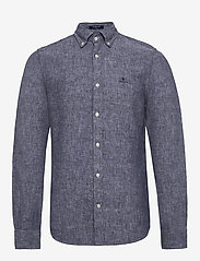 Gant - THE LINEN SHIRT SLIM BD - chemises basiques - persian blue - 0