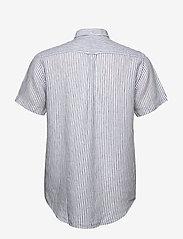 Gant - THE LINEN STRIPE REG SS BD - chemises de lin - white - 1