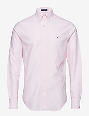 Gant - SLIM OXFORD SHIRT BD - basic shirts - light pink - 0