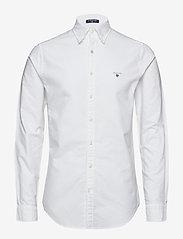 GANT - SLIM OXFORD SHIRT BD - basic shirts - white - 0
