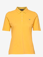 GANT - THE ORIGINAL PIQUE LSS - pikeepaidat - mimosa yellow - 0
