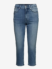 Gant - D1. SLIM BLUE CAPRI DENIM - straight jeans - light blue worn in - 0