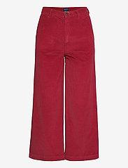 GANT - O1. CULOTTES WIDE CORD JEANS - bukser med brede ben - mahogny red - 0