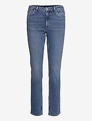 GANT - SLIM SUPER STRETCH JEANS - slim jeans - semi light blue broken in - 0