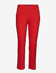 GANT - O1. STRAIGHT CROPPED PANT - broeken med skinny fit - bright red - 0