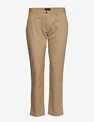 Gant - CLASSIC CHINO - straight leg trousers - dark khaki - 0