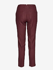 Gant - D1. WASHABLE STR WOOL TAPERED PANT - slim fit housut - mahogny red - 1