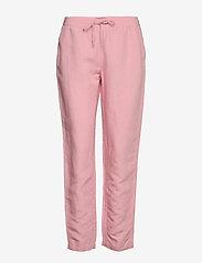 Gant - D2. SUMMER LINEN PULL-ON PANT - pantalons droits - summer rose - 0