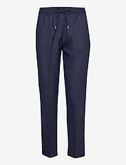 GANT - D1. WOOL BLEND PULL ON PANT - casual trousers - evening blue - 0