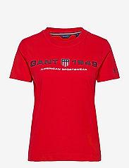 D2.GANT RETRO SHIELD SS T-SHIRT - BRIGHT RED