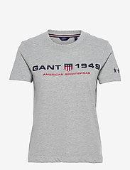 D2.GANT RETRO SHIELD SS T-SHIRT - GREY MELANGE