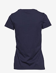 GANT - ARCH LOGO SS T-SHIRT - t-shirts - evening blue - 1