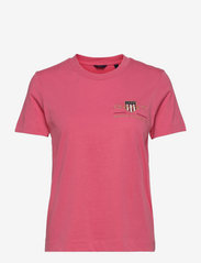 GANT - ARCHIVE SHIELD SS T-SHIRT - t-shirts - rapture rose - 0