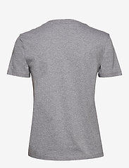 GANT - D1. 13 STRIPES SS T-SHIRT - t-shirts - grey melange - 1