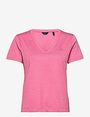 GANT - ORIGINAL V-NECK SS T-SHIRT - t-shirts - chateau rose - 0