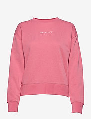 GANT - D1. 13 STRIPES C-NECK SWEAT - sweatshirts - chateau rose - 0