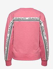 GANT - D1. 13 STRIPES C-NECK SWEAT - sweatshirts - chateau rose - 1