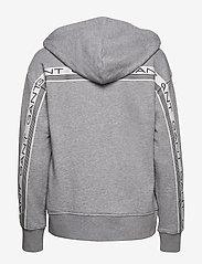 GANT - D1. 13 STRIPES FULL ZIP HOODIE - hoodies - grey melange - 1
