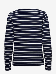 Gant - BRETON STRIPE BOATNECK JUMPER - logo t-shirts - evening blue - 1