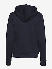 Gant - D1. MEDIUM SHIELD HOODIE - hoodies - evening blue - 1