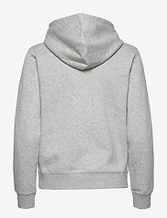 Gant - D1. MEDIUM SHIELD HOODIE - hoodies - light grey melange - 1