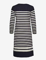 Gant - D1. STRIPED SHIFT DRESS - midimekot - evening blue - 1
