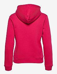 GANT - D2. MEDIUM ARCHIVE SHIELD HOODIE - hoodies - raspberry red - 1