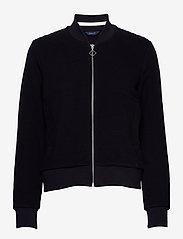 GANT - D1. JERSEY STRUCTURE JACKET - sweatshirts - evening blue - 0