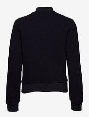 GANT - D1. JERSEY STRUCTURE JACKET - sweatshirts - evening blue - 1