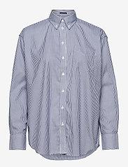 GANT - PPO OXF STRIPE RELAXED SHIRT - long-sleeved shirts - crisp blue - 0
