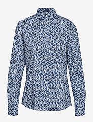 Gant - D1. AUTUMN PRINT STRETCH BC SHIRT - pitkähihaiset paidat - crisp blue - 0