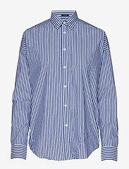 Gant - D1. TP BC STRIPED OVERSIZED SHIRT - pitkähihaiset paidat - college blue - 0