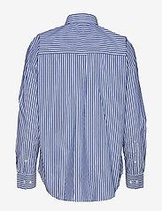 Gant - D1. TP BC STRIPED OVERSIZED SHIRT - pitkähihaiset paidat - college blue - 1
