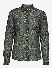 Gant - D2. LEMONADE COTTON SILK SHIRT - blouses à manches longues - insignia blue - 0