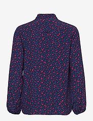 GANT - D1. CLOVER GARDEN VISCOSE BLOUSE - long sleeved blouses - evening blue - 1