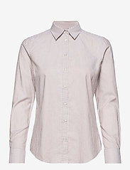 GANT - THE OXFORD BANKER SLIM SHIRT - long-sleeved shirts - warm khaki - 0