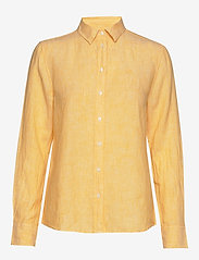 GANT - THE LINEN CHAMBRAY SHIRT - chemises à manches longues - mimosa yellow - 0