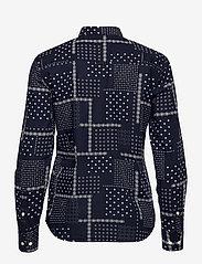 GANT - D2. MICRO PAISLEY B.CLOTH SHIRT - long-sleeved shirts - evening blue - 1