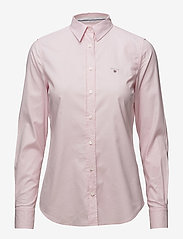 GANT - STRETCH OXFORD SOLID - long-sleeved shirts - light pink - 0