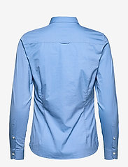 GANT - SOLID STRETCH BROADCLOTH SHIRT - long-sleeved shirts - mid blue - 1