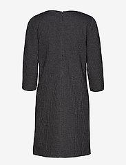 Gant - D1. DOGTOOTH JERSEY CL SHIFT DRESS - midimekot - dark grey melange - 1