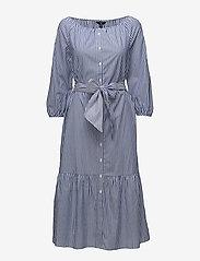 Gant - O1. PREPPY STRIPED SHIRT DRESS - paitamekot - college blue - 0